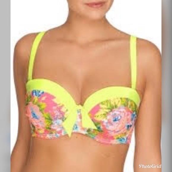 Prima Donna Other - NWOT Floral Bikini Top